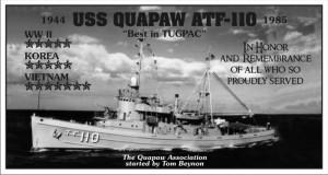 USS Quapaw Wall Plaque