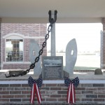 USS Quapaw's anchor and plaque